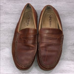 Sperry Men's Hampden Leather Penny Loafer Brown